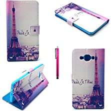 buy Sony Z4 Case, Jcmax [Wallet Design] Superior Pu Leather With Cute Stylish Pattern [Shock Proof] [Anti-Dust] Supreme Thin For Sony Z4 (Free Gifts: 1X Stylus)-Eiffel Tower
