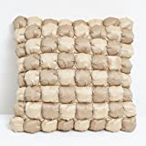 A S Traders Bally Cushion Cover Dupion fabric filled with polyfiber (40 Cm x 40 Cm, Light & Dark Brown, Set of...