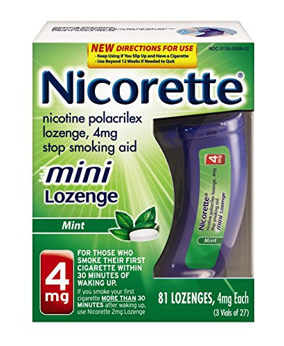 Nicorette Mini Losange (4 mg) 81-Count Paquet