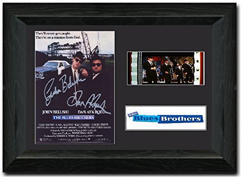 The Blues Brothers 35mm Film Cell Display Cast Firmato John Belushi dan Aykroyd