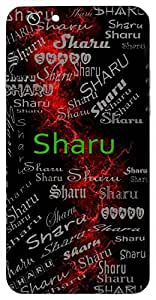 Sharu (Lord Vishnu) Name & Sign Printed All over customize & Personalized!! Protective back cover for your Smart Phone : Moto X-Play