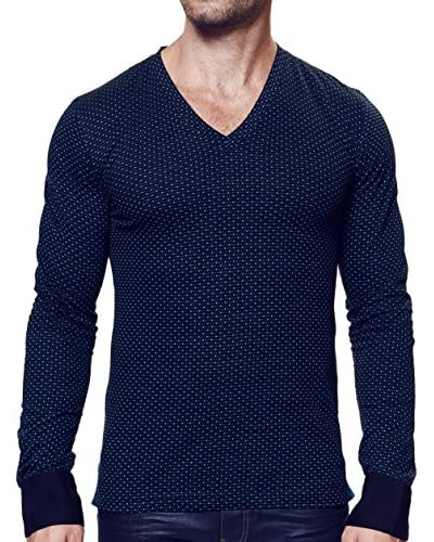 MACEOO Men's V-Neck Sweater with Cuffs