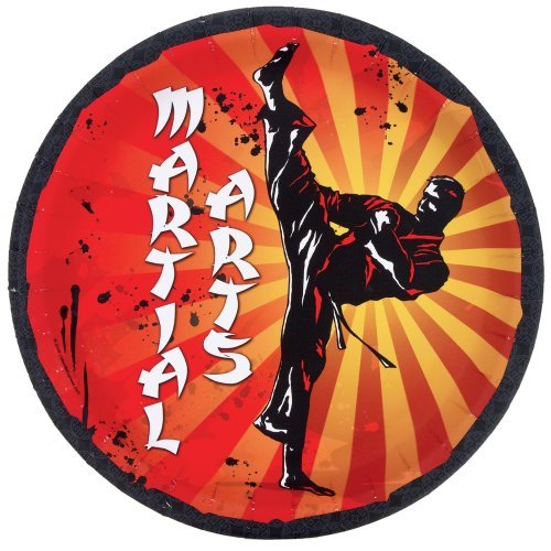 Martial Arts Dinner Plates (8) Party Supplies
