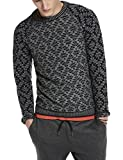 Scotch & Soda Intarsia Knitted Crewneck Pullover with Inside-Out Knitted Body, Pull Homme