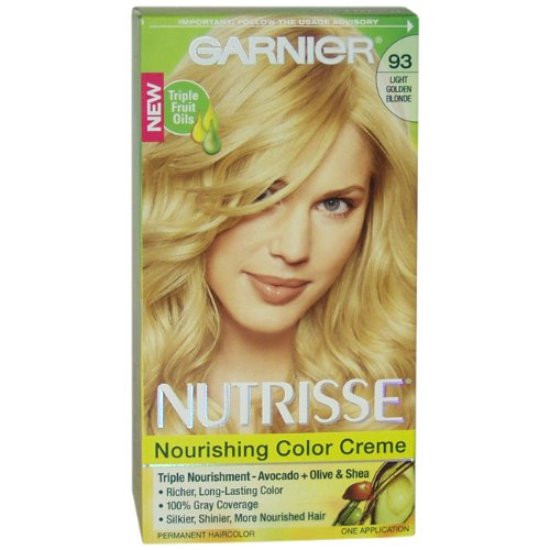 Garnier Nutrisse Haircolor, 93 Light Golden Blonde Honey Butter