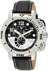 Swiss Legend Men's 10537-01 Scubador Analog Display Swiss Quartz Black Watch