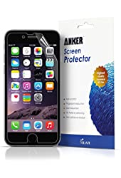 """Anker® [3-pack] Ultra Clear High Response HD Screen Protector for iPhone 6 (4.7 inch) """"XTREME Scratch Defender""""[Lifetime Warranty]"""