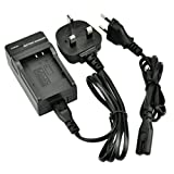 DSTE® DC16U (EU and UK Plug) Battery Charger for Olympus Li-50B, Li-60B, Li-90B, D-LI92, Nikon EN-EL11, Sony NP-BK1, NP-FK1, Pentax D-Li78, Panasonic VW-VBX090, DB-80 Battery