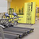 Full Wall Motivational Inspirational Fitness Decal Mural