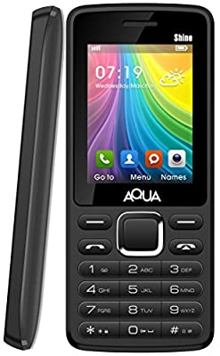3d9b429bc82 ... Aqua Shine - 2100 mAh Battery - Dual SIM Basic Mobile Phone - Black ...