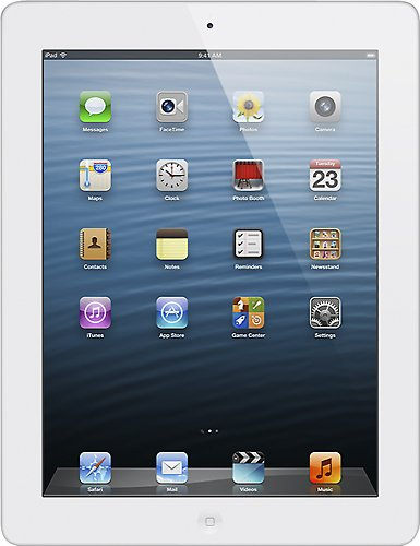 Apple iPad 4 With Retina Display With Wi-Fi 16GB In White