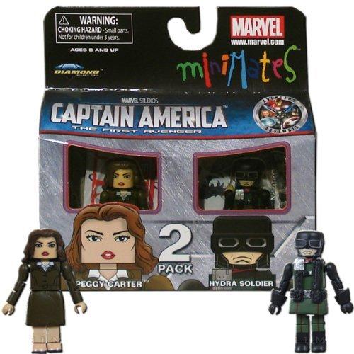 Minimates Marvel Comics Series 40 Captain America - Peggy Carter and Hydra Soldier 2 pack Mini Figure by Diamond (Peggy Carter Captain America 2)