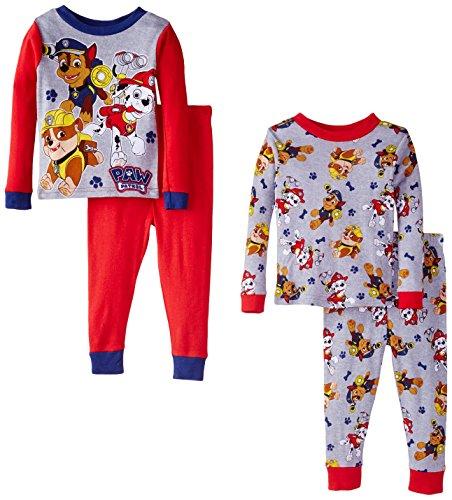 Paw Patrol Little Boys' Rescue Coming Four-Piece Pajama Set