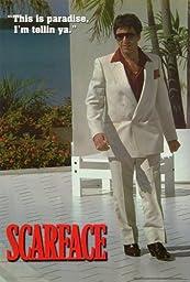 Unframed canvas prit poster Scarface Movie B Al PacinoSteven BauerMichelle PfeifferRobert LoggiaF. Murray AbrahamMary Elizabeth Mastrantonio 24x36inch(60x90cm)