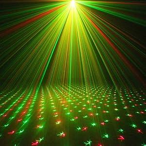 Wonsung Mini GR red green mini Laser lazer lights Stage lighting Holiday DJ Dance Home Party Xmas Light
