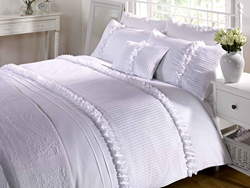Ruffled White Comforter