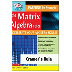 Matrix Algebra Tutor: Cramer's Rule