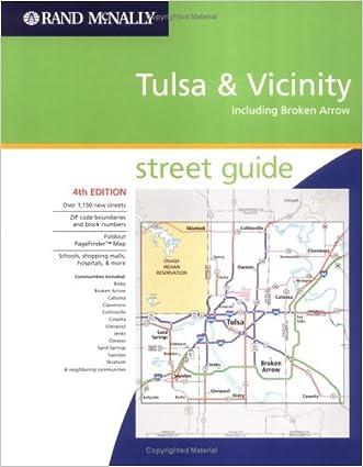 Rand Mcnally Atlas Tulsa & Broken Arrow, Oklahoma