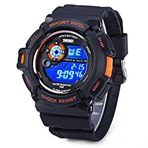 Aposon S-Shock Military LED Digital Quartz Watch Water Resistant Sport Watches Multifunctional - Orange