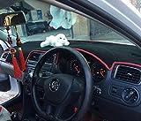 カー用品 オリジナルマットダッシュ マット ダッシュボードマット カバー トヨタハイランダー 対応フォルクスワーゲン・ポロ2009-2016 車種専用設計Volkswagen Polo GTI (color :black with red edge)
