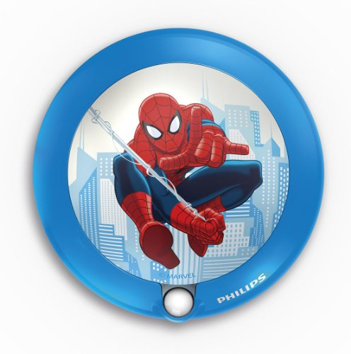 Philips Marvel Spiderman LED Night Light Indoor Children's Night Light - Blue, 2 x AA Required (Not included)