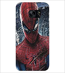 PrintDhaba Spiderman D-5186 Back Case Cover for SAMSUNG GALAXY S7 (Multi-Coloured)