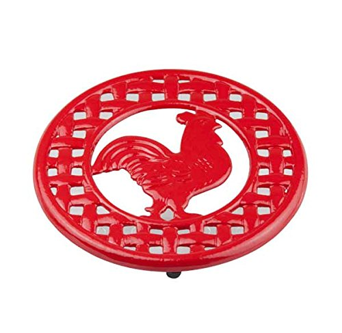 home-basics-cast-iron-rooster-trivet-red