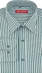 HASTINGS Men's Formal Shirt (V81_38, Green, 38)