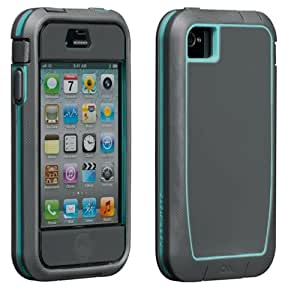 Case-Mate Tough Xtreme CM019478 Phantom Case for Apple iPhone 4/4S (Cool Gray/Turquoise)