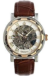 Geneva Alloy Band Quartz Watch Classic Unisex Crystal Wrist Watch Gold