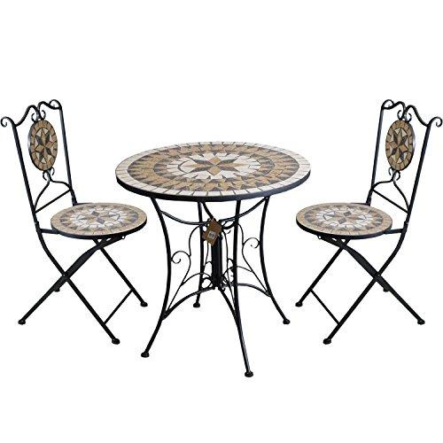 3tlg-Gartengarnitur-Mosaiktisch-Metall-70cm-2x-Mosaik-Klappstuhl-Sterndesign-Sitzgarnitur-Balkonmbel