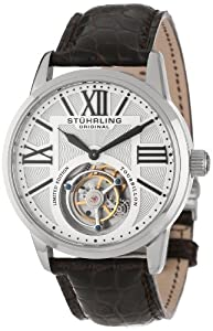 Stuhrling Original Men's 537.331XK2 Tourbillon Grand Imperium Limited Edition Mechanical Brown Watch