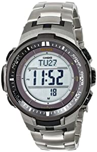 Casio Men's PRW-3000T-7DR Pro Trek Digital Display Quartz Silver Watch