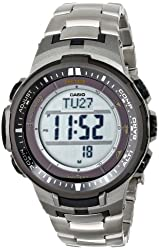Casio Men's PRW-3000T-7DR Pro Trek Digital Display Quartz Silver Watch