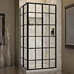 DreamLine French Corner 34 1/2 in. D x 34 1/2 in. W, Framed Sliding Shower Enclosure, 5/32