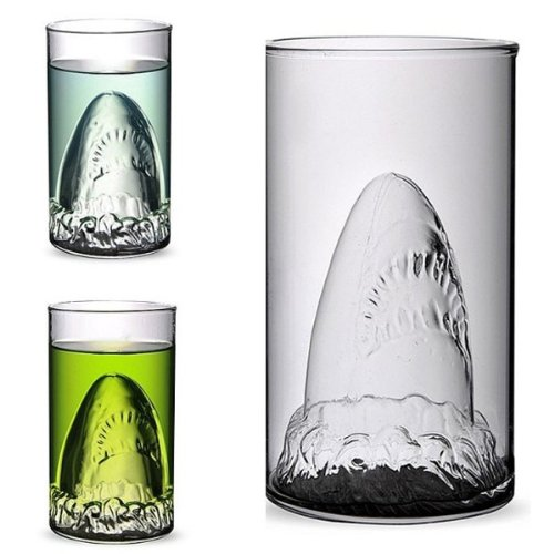Creative Shark Glass Cup Beer Mug Champagne Red Wine Cup shopping