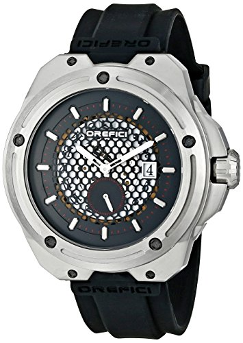 Orefici ORM15S4702 Men's Special Editions Black Dial Black Rubber Strap Watch