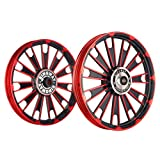 Kingway JS2U Zipp Bike Alloy Wheel Set of 2 19/19 Inch Red and Black-Royal Enfield Electra