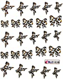 Ggsell Yao Shun Water Transfer Decals Nail Hydroplaning Nail Stickers Leopard Butterfly Bow