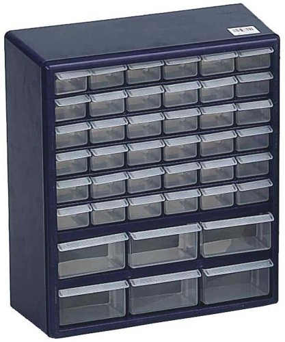 "14.5 X 16.5 X 6"" Deluxe Organizer For Craft Table Or Workbench With 42 Clear Plastic Drawers"