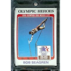 Buy 1984 Topps M&M Bob Seagren Pole Vault Olympic Heroes Trading Card - Mint Condition - In Protective Display Case! by Topps