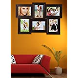 Attractive Zig Zag Collection Good Finished Six Photo Collage Frame, Brown, By Lazreena Art Decor