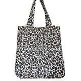 Cotton Fashion Shopper Bag Leopard / Animal Print Brown