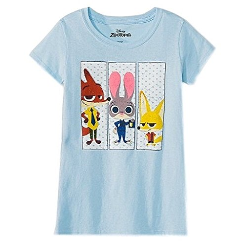 Zootopia Girls Clover T Shirt Blue Tee Size L