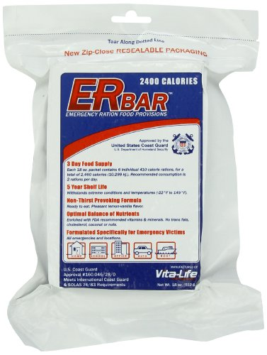 Er emergency ration 2400 calorie 5 year emergency food bar for Food bar emergency