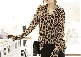 Blouse For Women Leopard Pattern - Blusa Feminina Leopard Print at