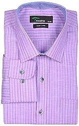 SWATHE Men's Formal Shirt (6120-1-44, Multi-Coloured)