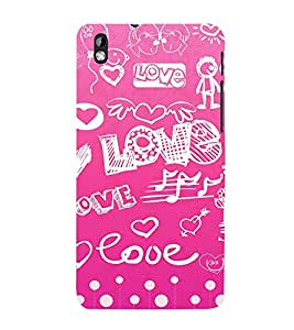 Vizagbeats Love and Hearts Back Case Cover for HTC Desire 816