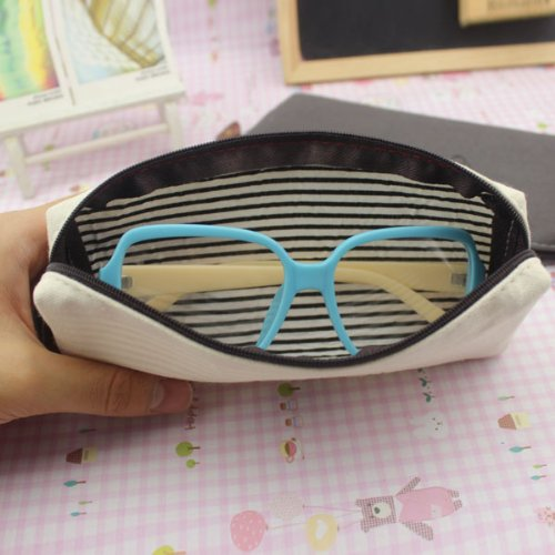 NEEWER Portable Linen Phone Pencil Pen Case Cosmetic Makeup Bag Pouch
