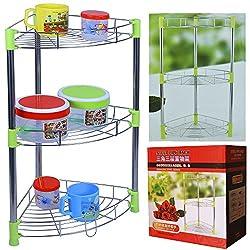 NOVICZ 3 Layer Kitchen Rack - Multipurpose corner shelf for kitchen